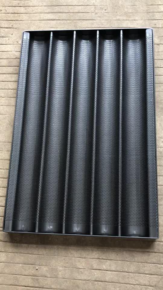 Backformen Aluminium Stahl Perforierte Laibpfanne / 5 Wellenform für Laib