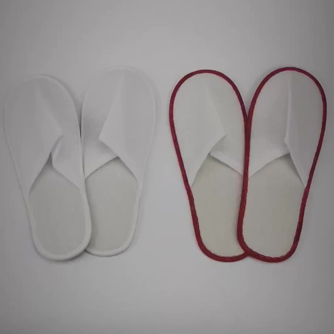High Quality White Hotel Slippers Disposable Indoor Slipper