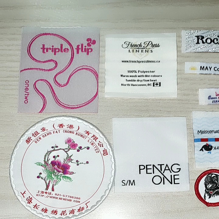 Professional custom High-Quality fabric woven clothing label tags