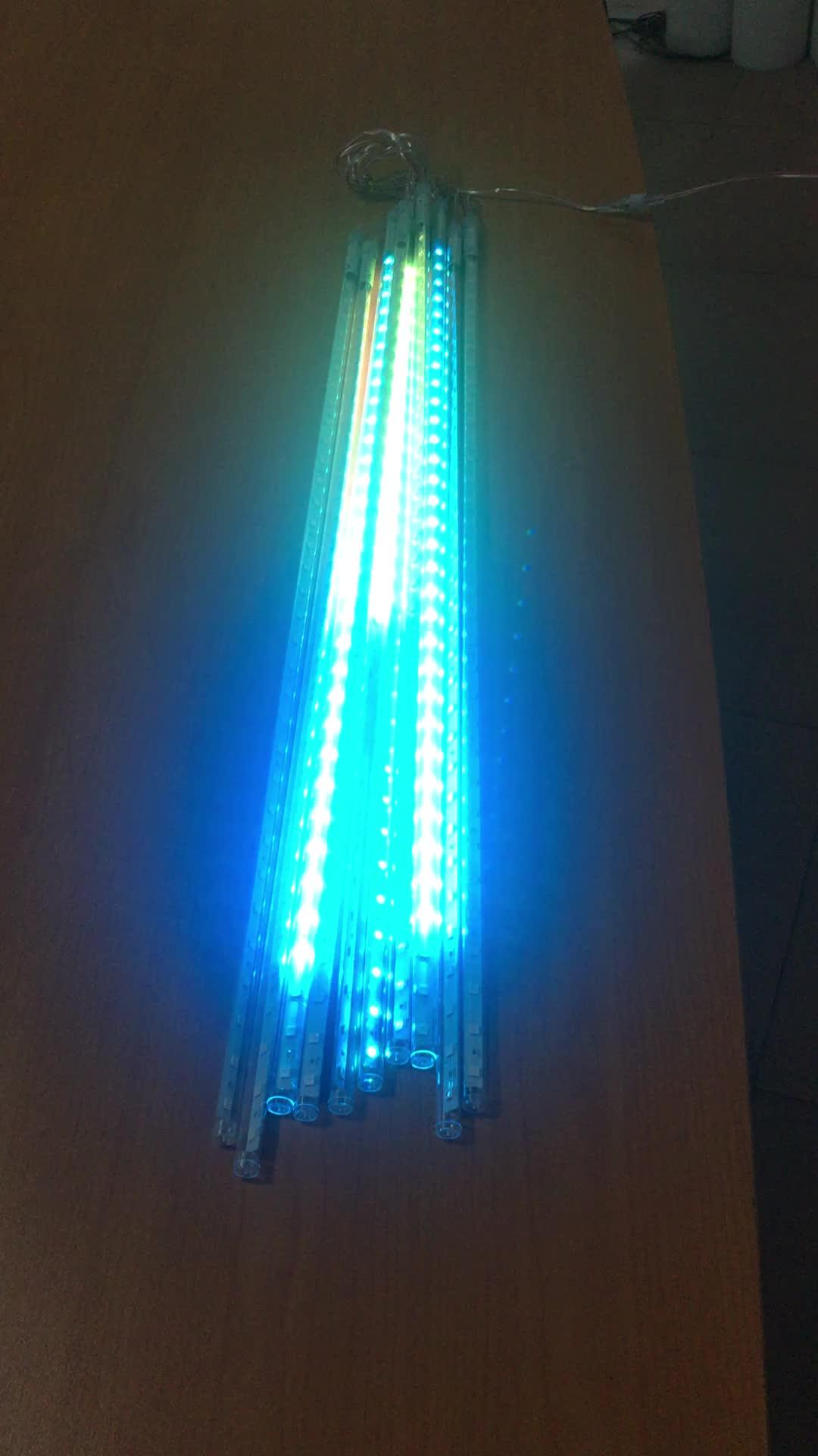 निविड़ अंधकार 50 cm 10 ट्यूब छुट्टी उल्का वर्षा एलईडी स्ट्रिंग रोशनी इनडोर, आउटडोर उद्यान के लिए dmx आउटडोर पेड़ बारिश ड्रॉप प्रकाश
