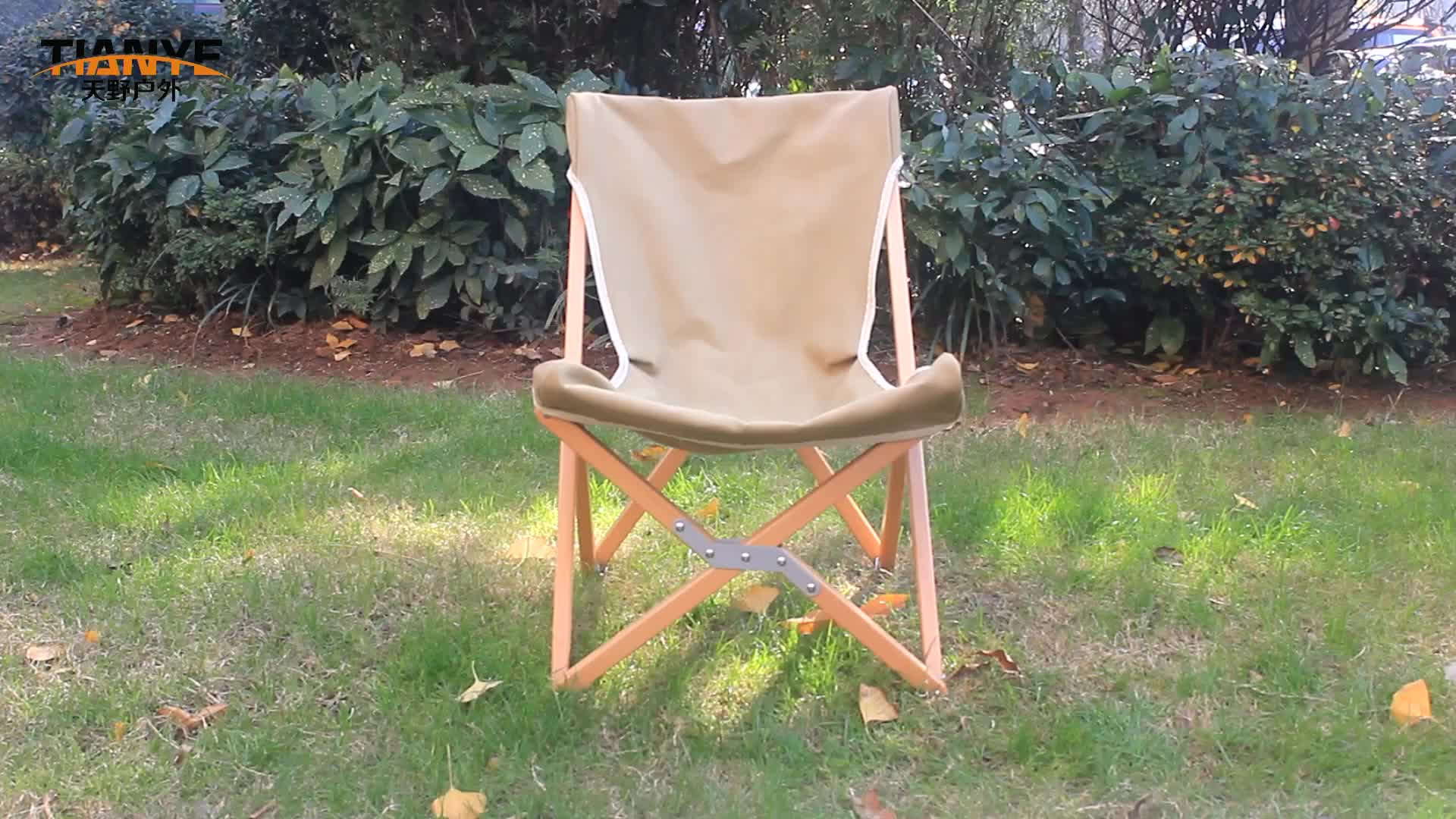 Tianye outdoor wood folding portable canvas deck chair