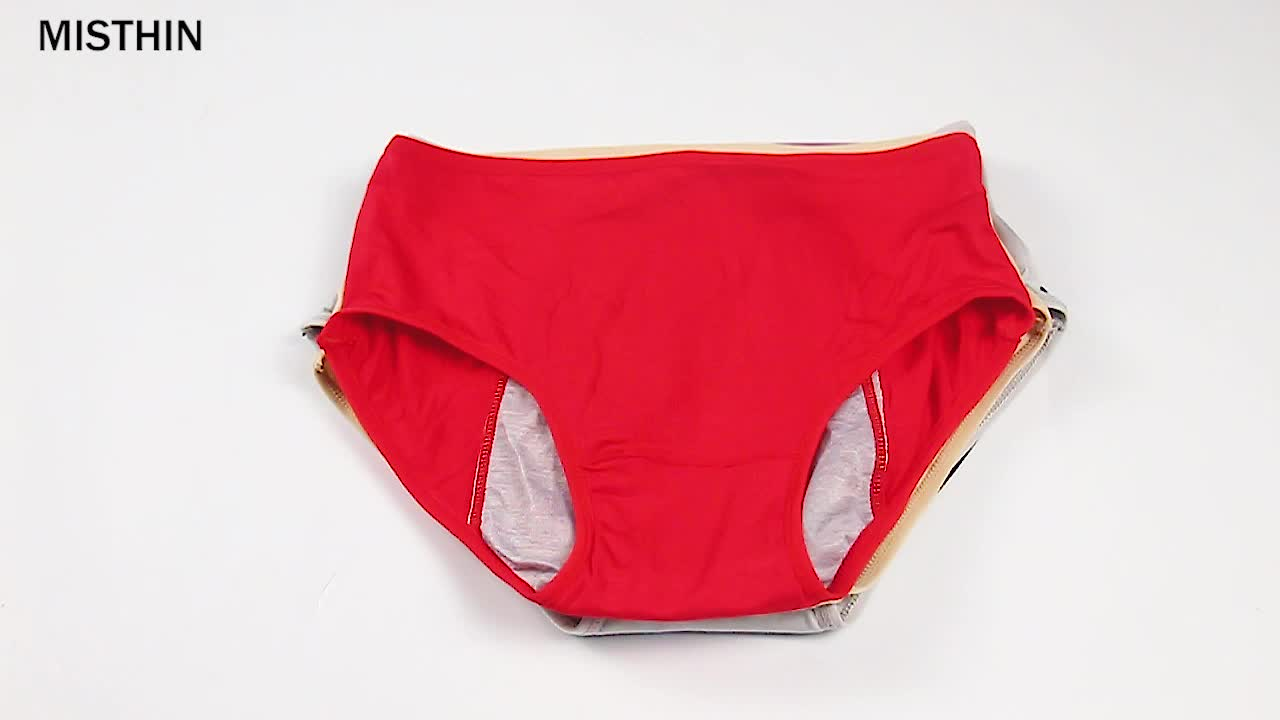 New Design Women Period Safety Underwear Three Layer Physiological Panties Menstrual Panties