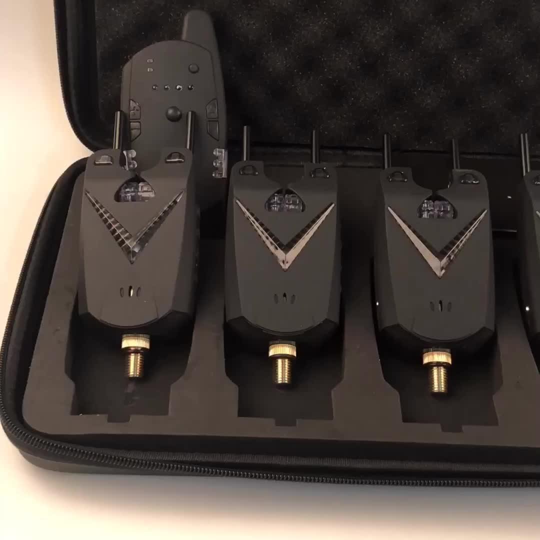 JY-66-4 Kablosuz Sazan balık avı oltaya vurma alarmı Seti 1 Alıcısı ile 4 Bite Alarmları