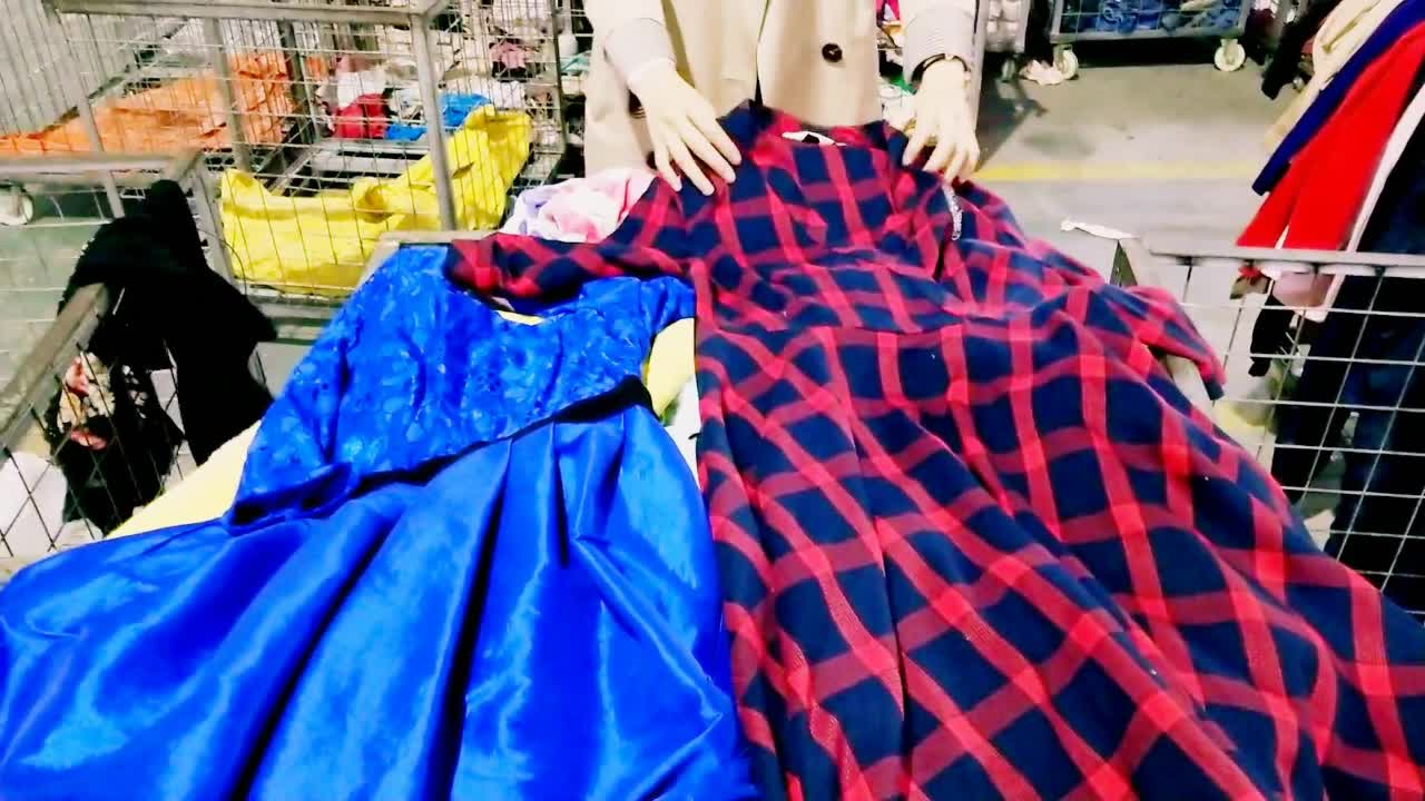 Professional Manufacturer second hand used clothing Ladies Autumn/Winter Dress bale used clothes