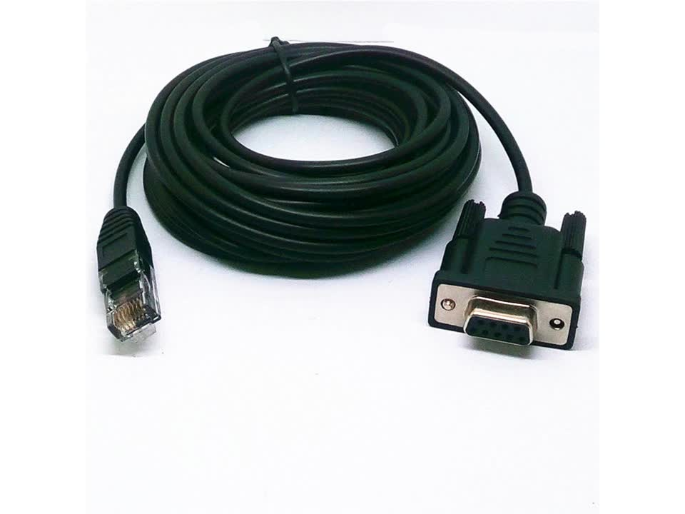 D sub VGA cable rs232 db9 male to male serial cable for the computer data connection