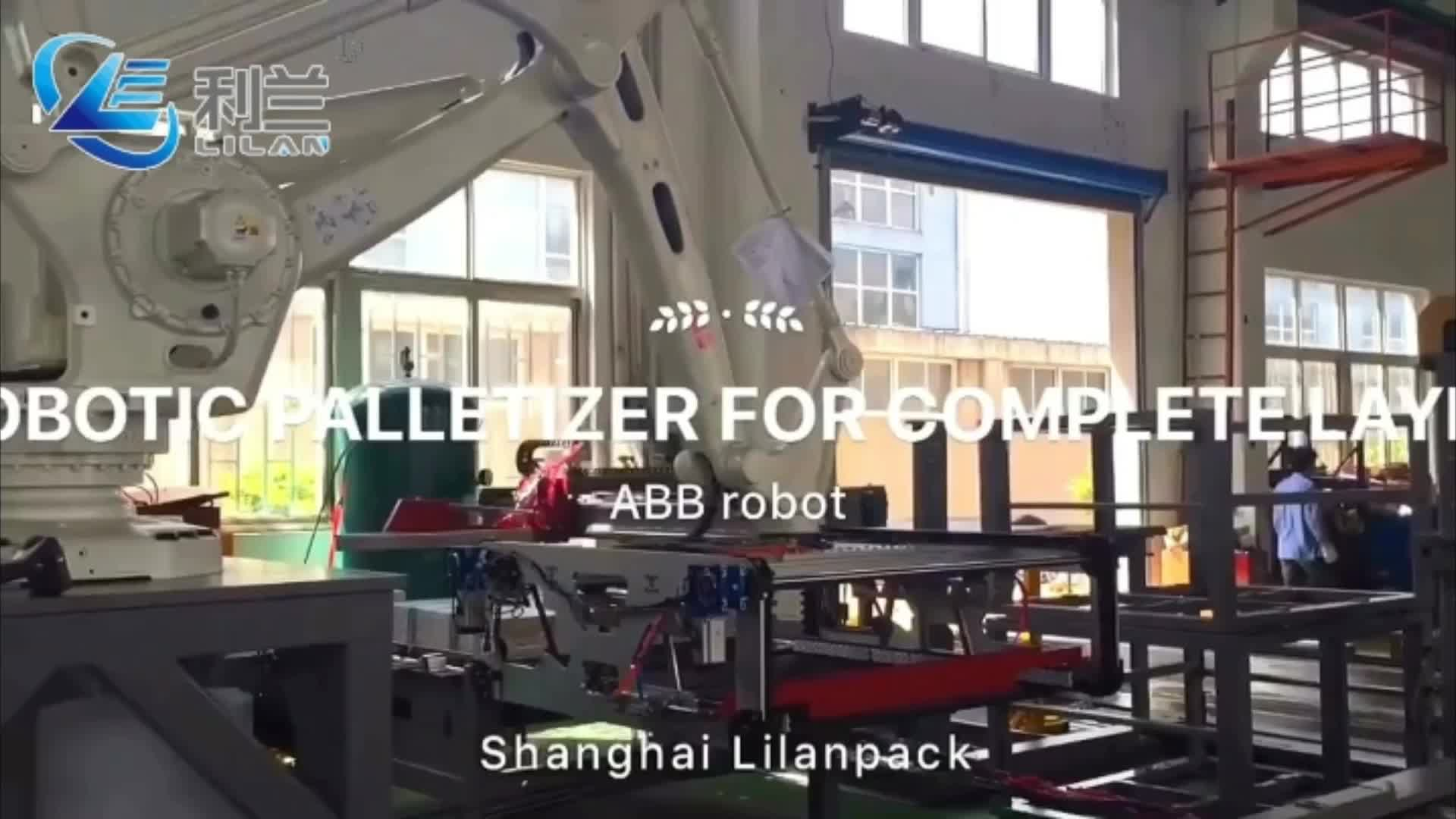 Security Intelligence automat robot palletizer per la birra e industria delle bevande con lattine