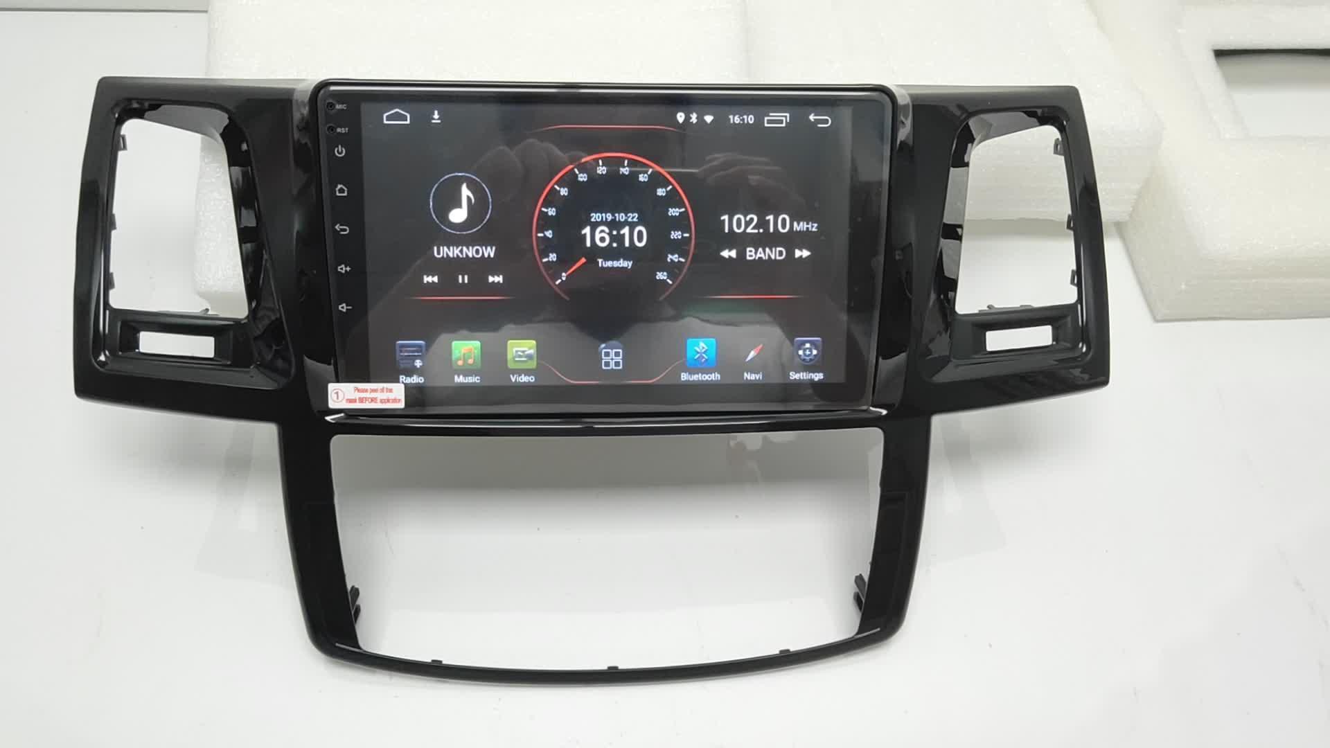 Newnavi アンドロイド 9.0 1 喧騒車のラジオ 10.1 インチのフルタッチスクリーン車のビデオプレーヤーのためのトヨタハイラックス 2012