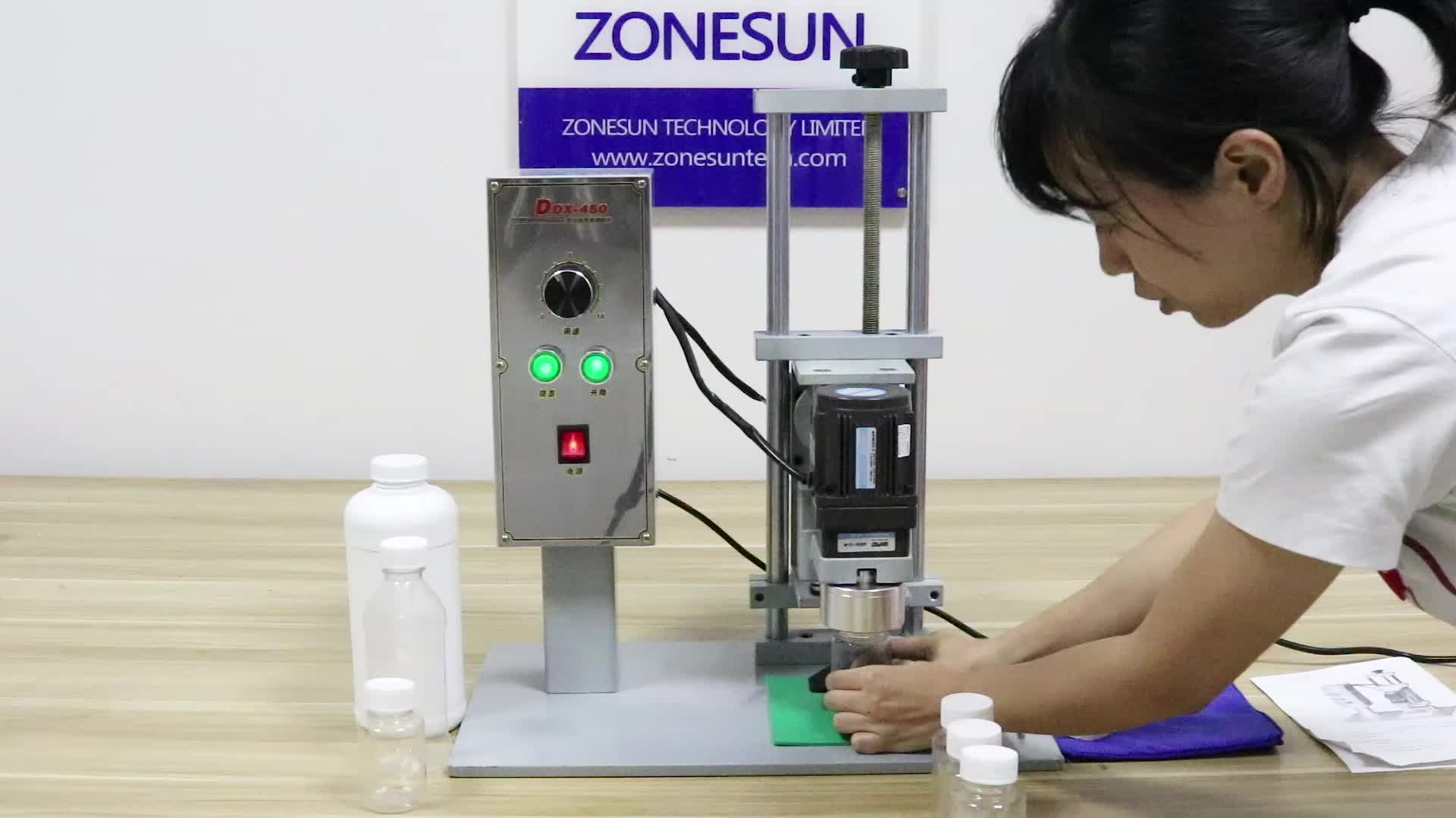 ZONESUN semi automatic plastic bottle ropp sealing capping machine