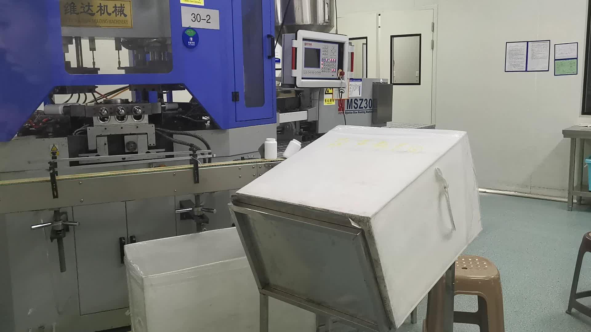 100 Ml 250 Ml Tutup Putih Plastik PET Farmasi Pil Botol