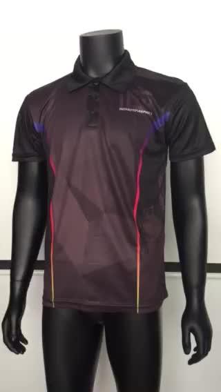 उच्च गुणवत्ता Sublimated पोलो शर्ट, छोटे MOQ, किसी भी रंग/लोगो मुद्रित