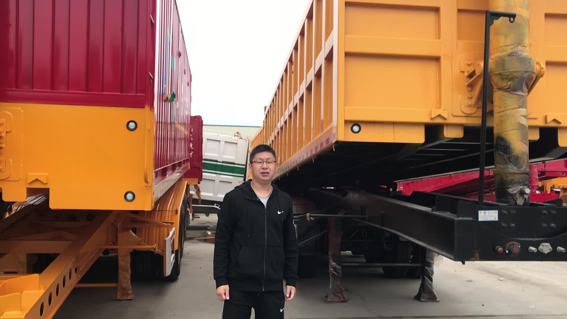 Side dump triler  3 axle tipper trailer for coal transportation for sale