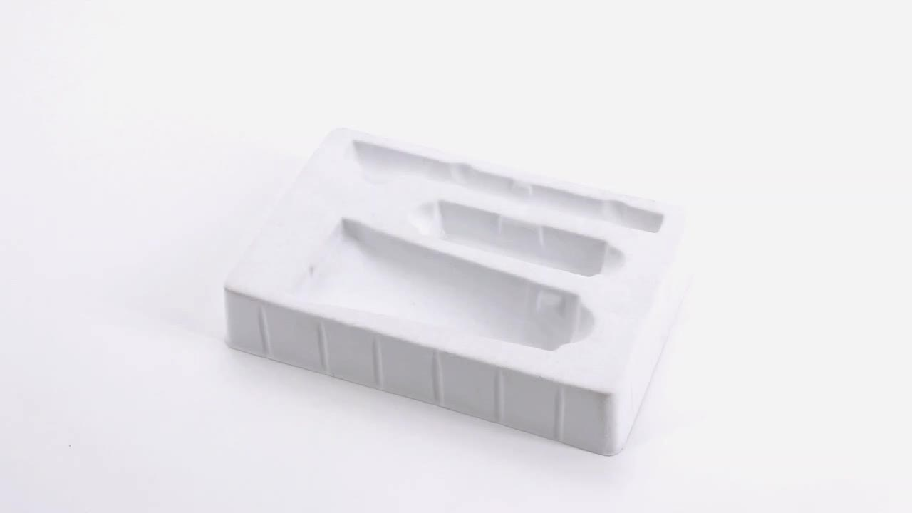 custom high quality flocking cosmetic blister packaging / cosmetic blister packaging trays