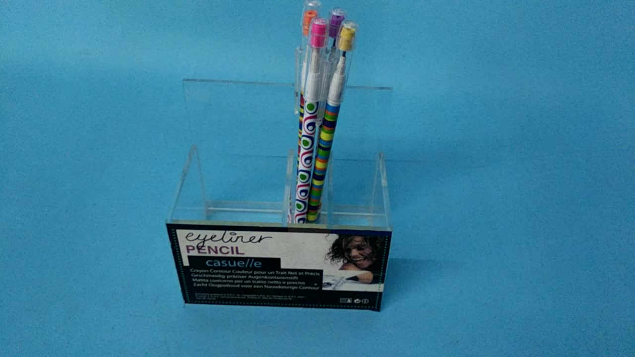Clear Acrylic Eyeliner Pencil Container