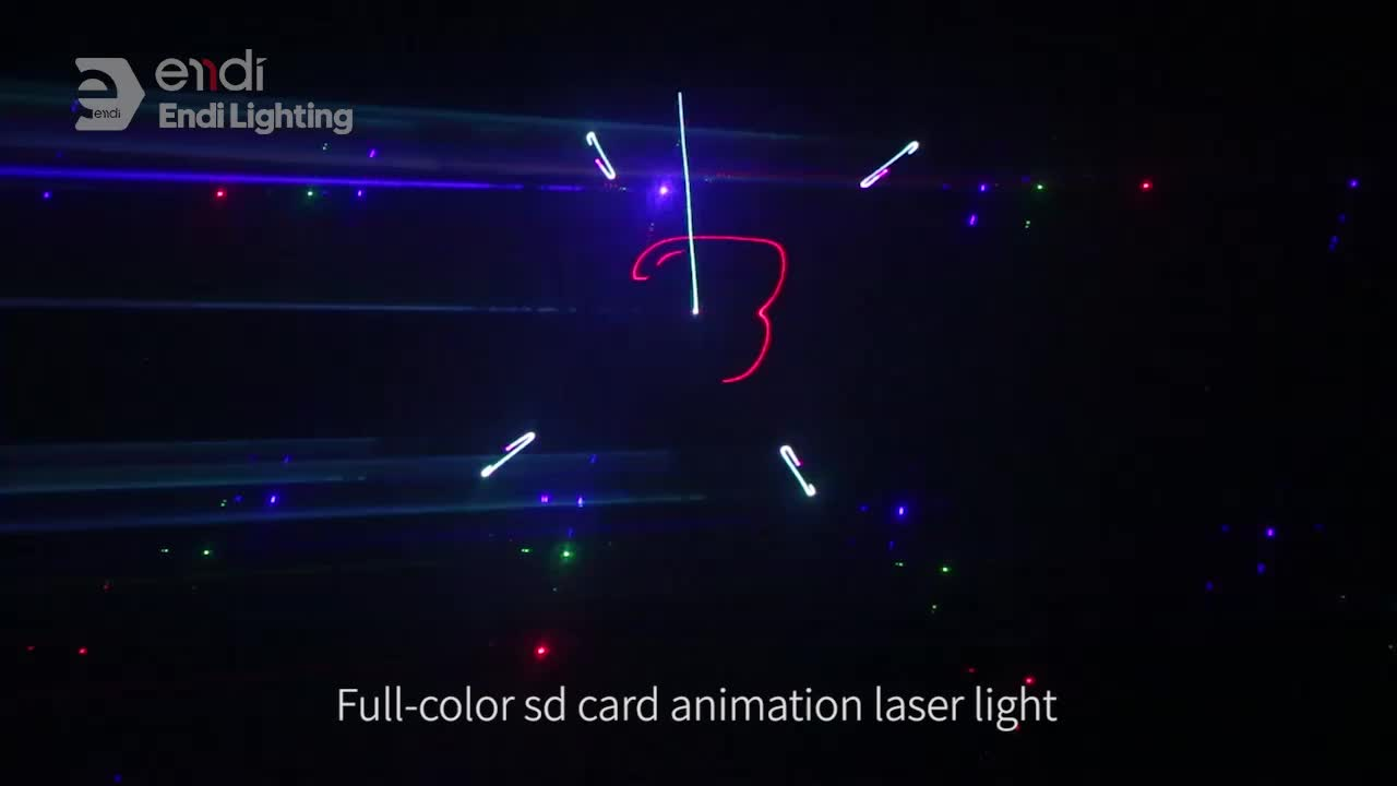 ENDI mini gif Animated laser dj lights for disco bar and party light with sd cards stage lighting