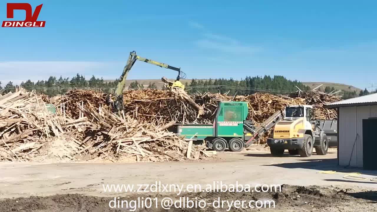 למעלה איכות נסורת עץ שבבי רוטרי מייבש עם עקיף חימום