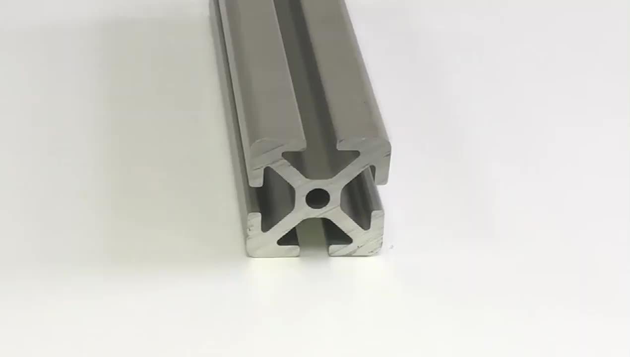 FP-3765 30*30S Fillet diecasting aluminium frame 6 slots industrial aluminium profile Guardrail