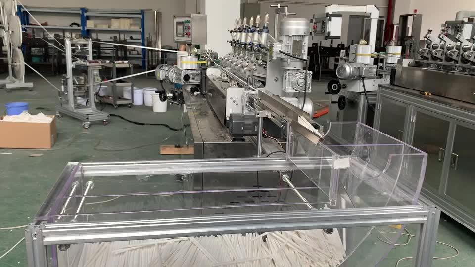 ZX-50 อัตโนมัติกระดาษฟางโรงงานทำที่มีสีสันกระดาษฟาง