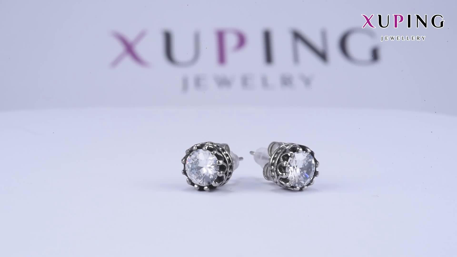 95388 xuping fashion big diamond earring Stainless Steel earring