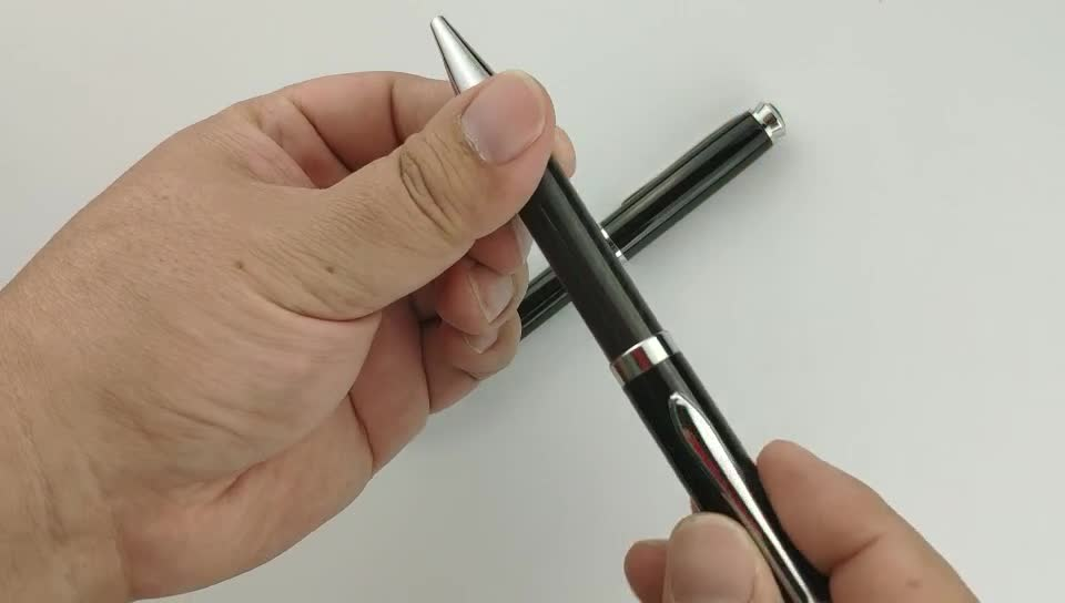 ningbo new hot sale popular high quality twist promotional carbon fiber pen and metal ball pen