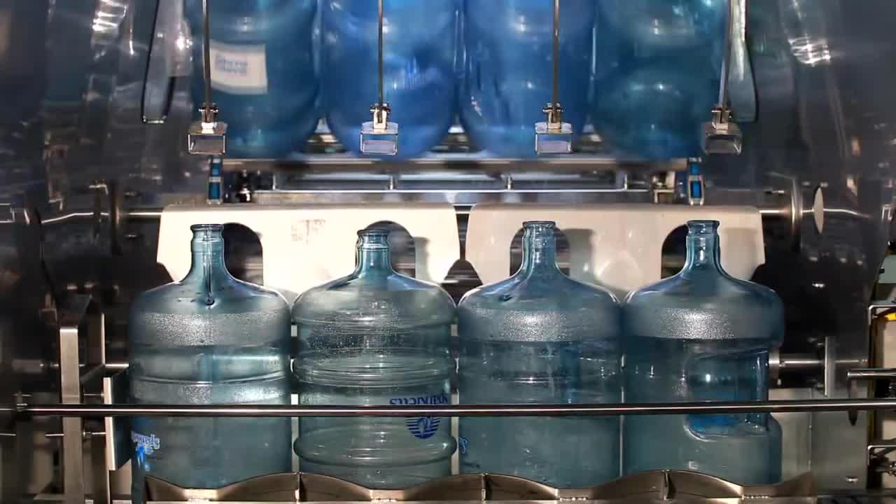 600BPH CE утвержден нержавеющая сталь полностью автоматическая бутылка жидкости баррель 5 галлонов питьевой воды розлива