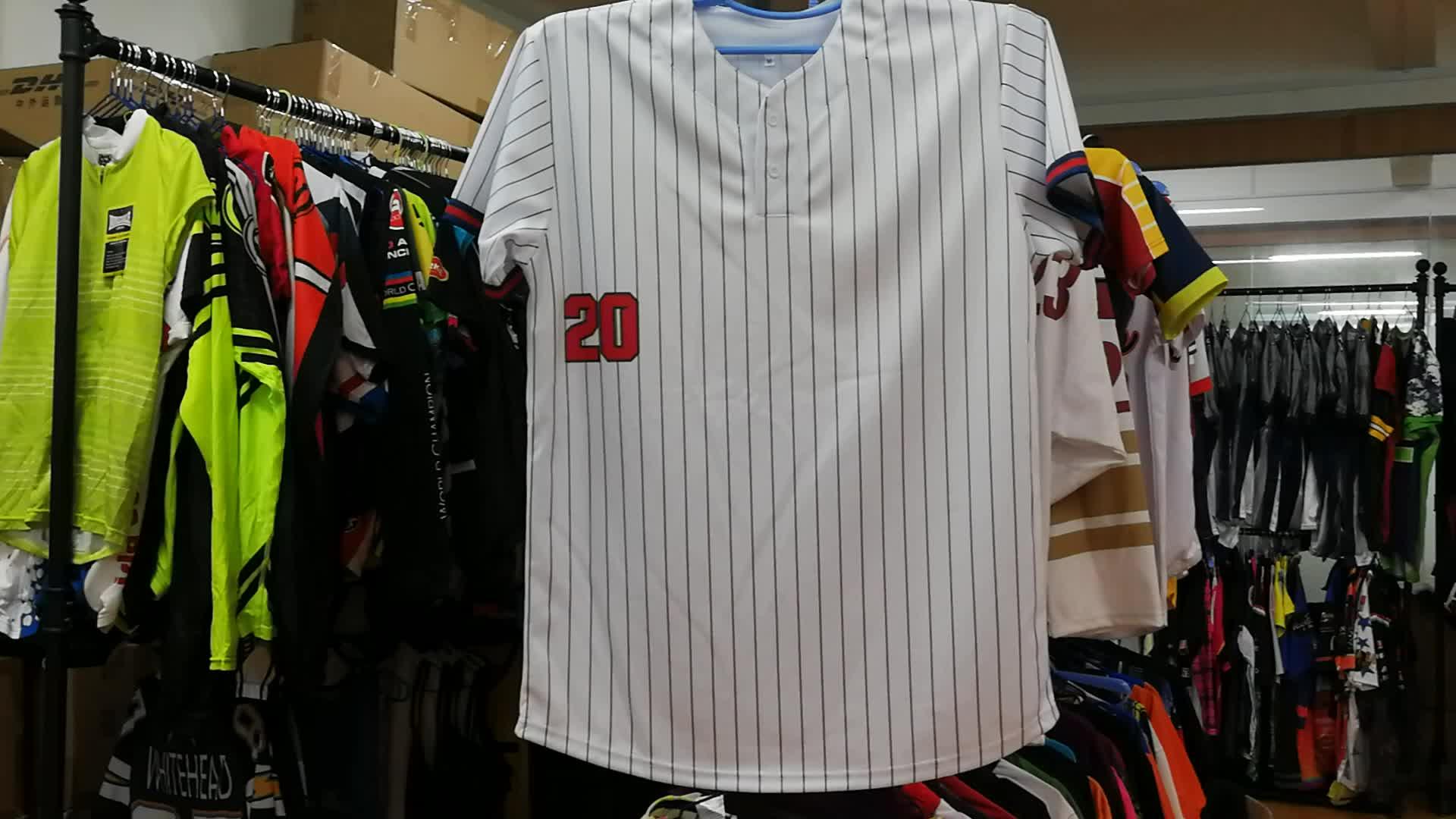 100 Polyester Özel Boş Düz Yüceltilmiş Beyzbol Forması