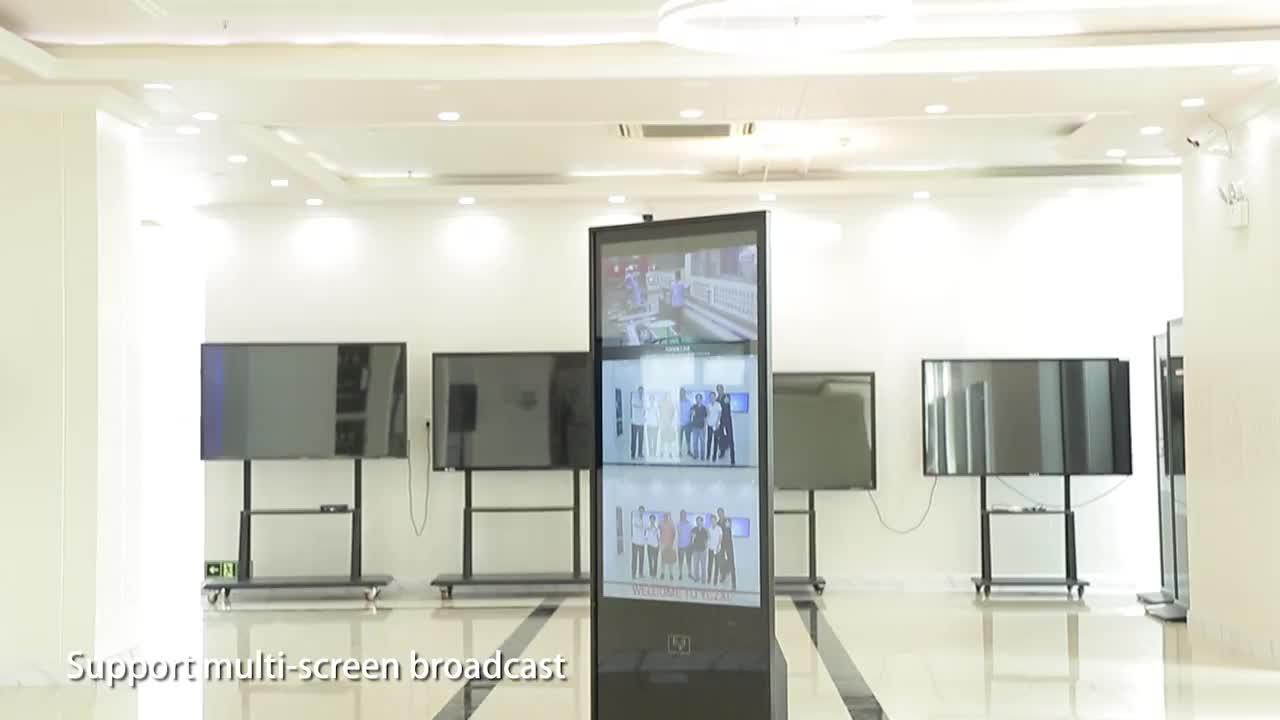 바닥 스탠드 실내 광고 led 디스플레이 화면 가격 벽 마운트 광고 디스플레이
