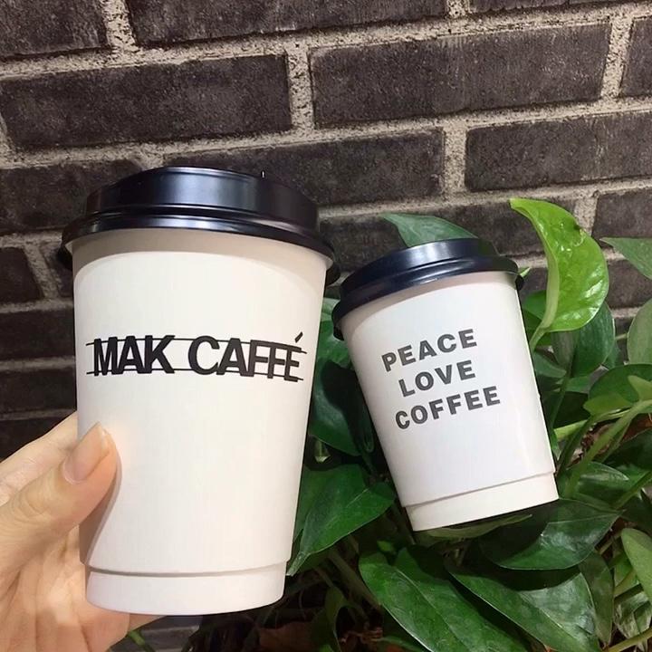 ปริมาณขนาดเล็กการออกแบบที่กำหนดเองทิ้งร้อนสีขาวถ้วยกาแฟกระดาษ