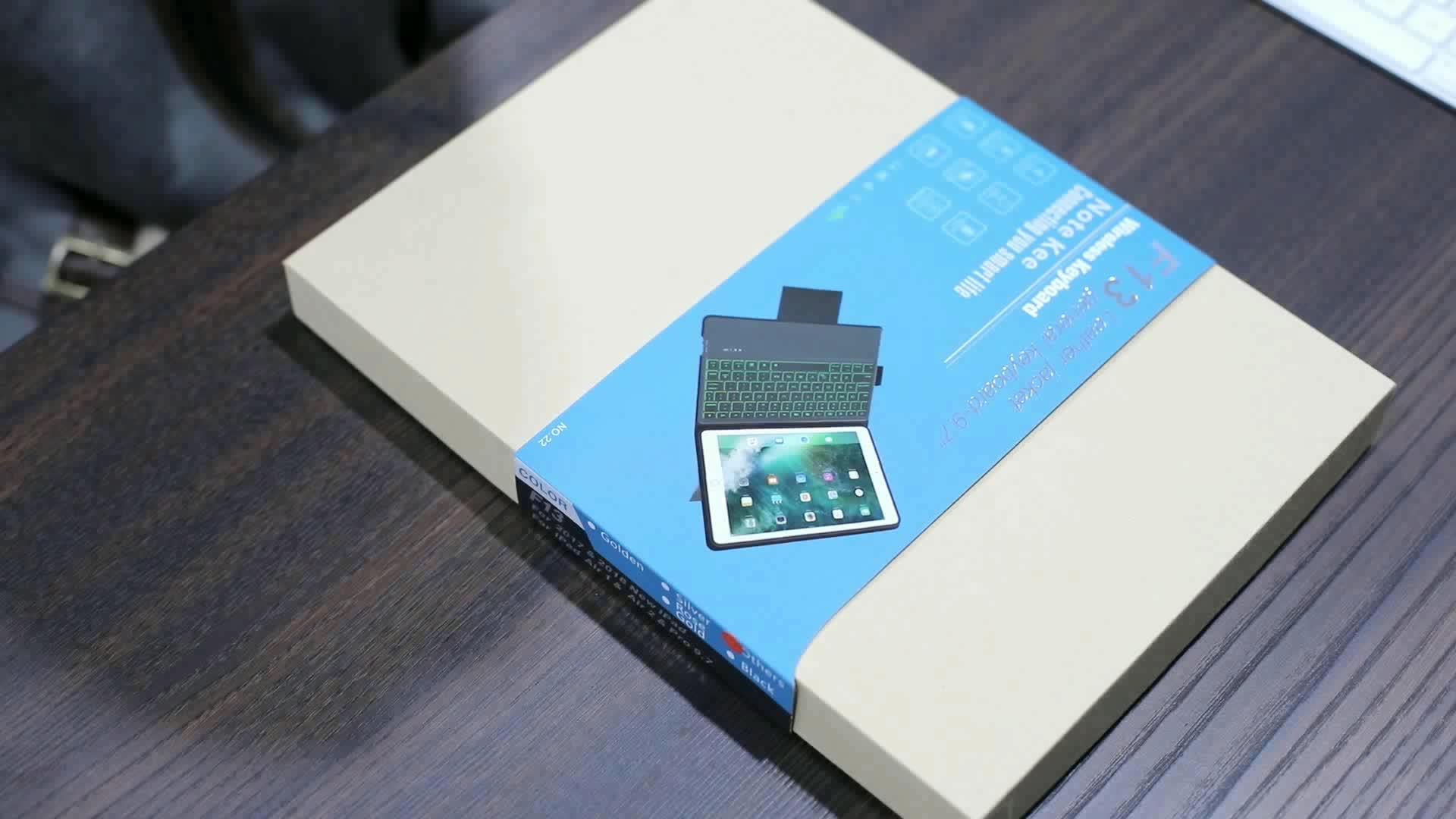 ZOYU Generasi-Produk Berharga Ultra Slim Leather Smart Cover untuk iPad Pro 9.7 Inci Cover dengan 2017/2018 Bluetooth Keyboard