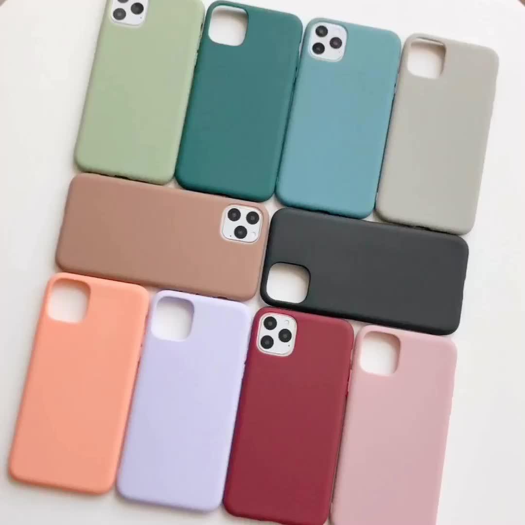 Luxus Durable Schlank Matte TPU Telefon Fall Für iPhone 11 X Max XR 8 Plus, weichen Silikon Telefon Abdeckung Für iPhone 7 zu 12 Pro Max Fall