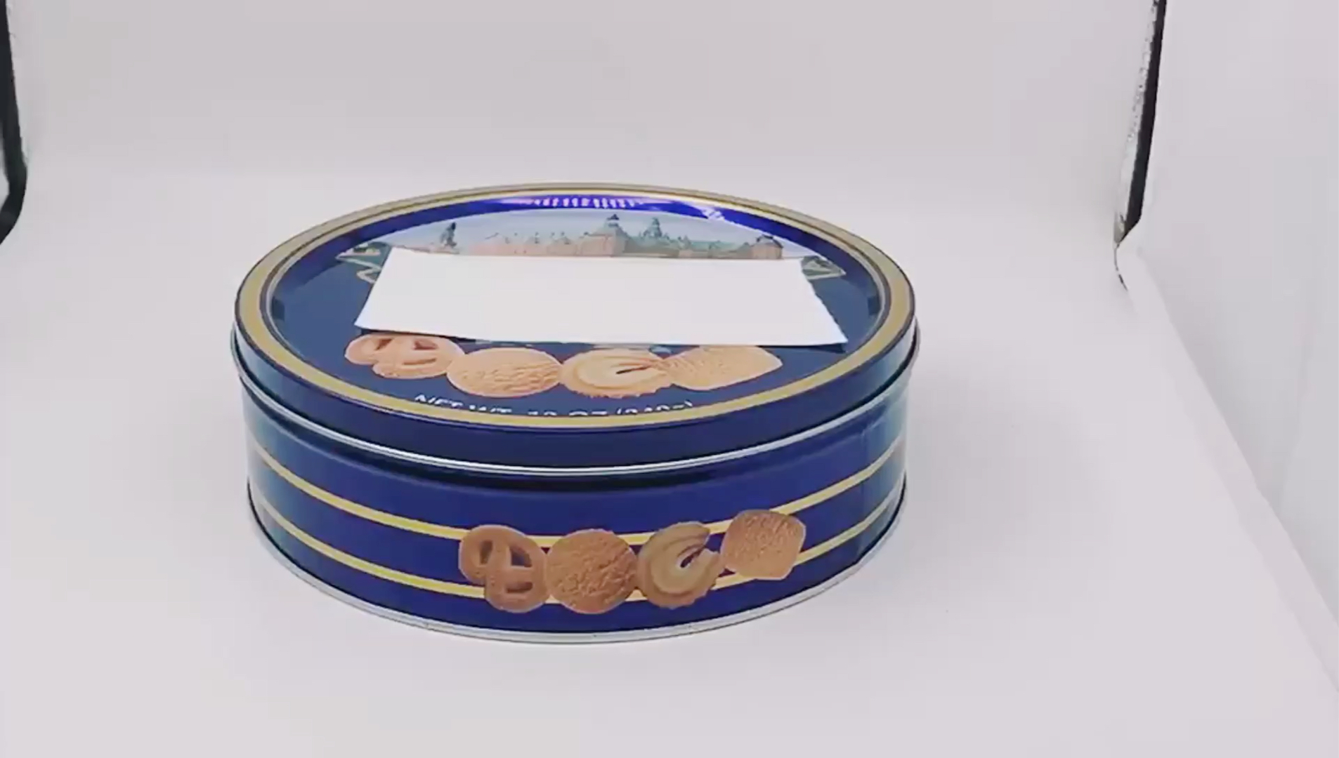 Candy Can Mix design Round storage box Metal Snack box Food Container Gift Box Cookies Biscuit Tin