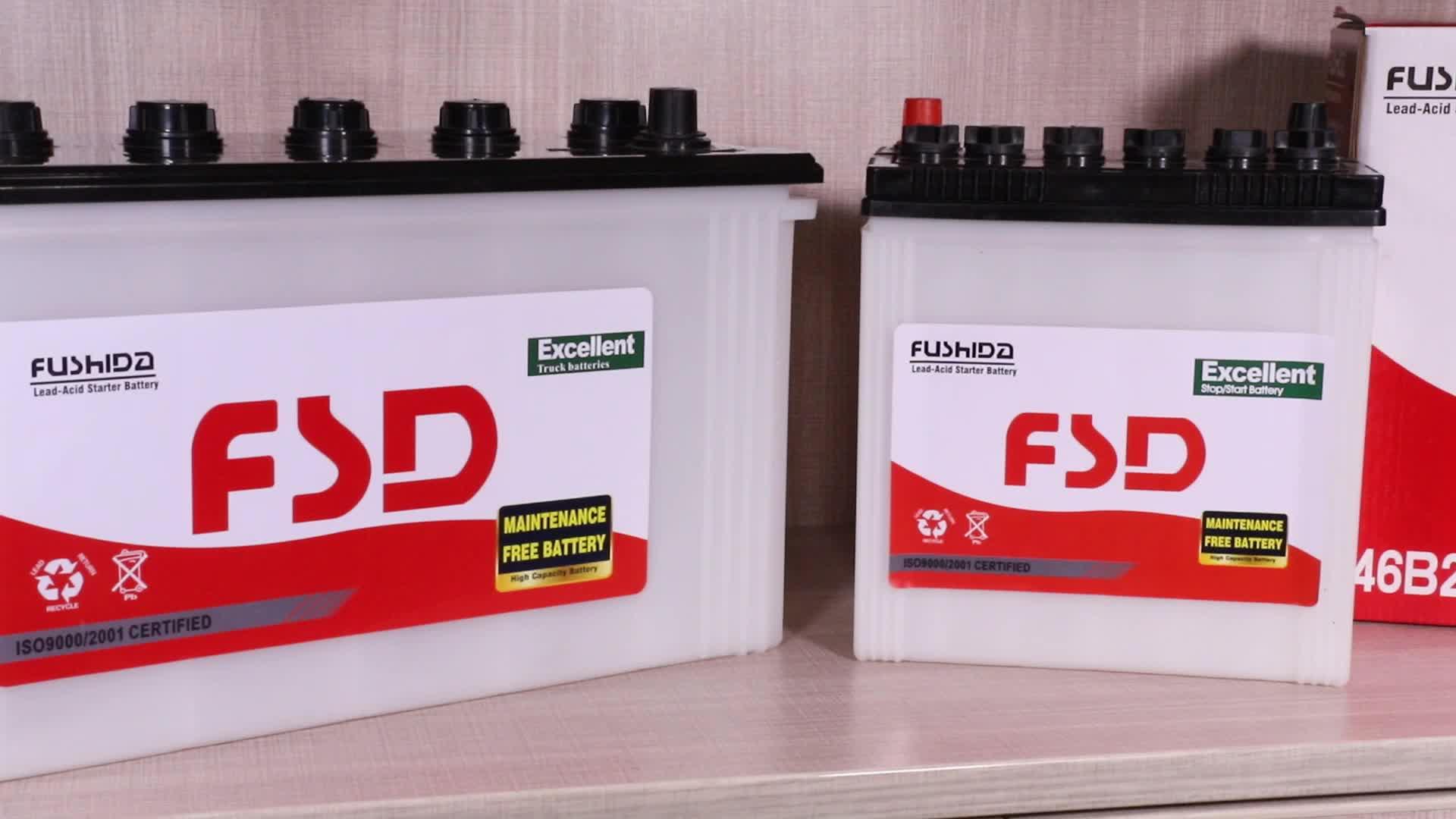 12V 150Ah 100Ah Trockene geladene Autobatterie N150 N100 12V 95Ah