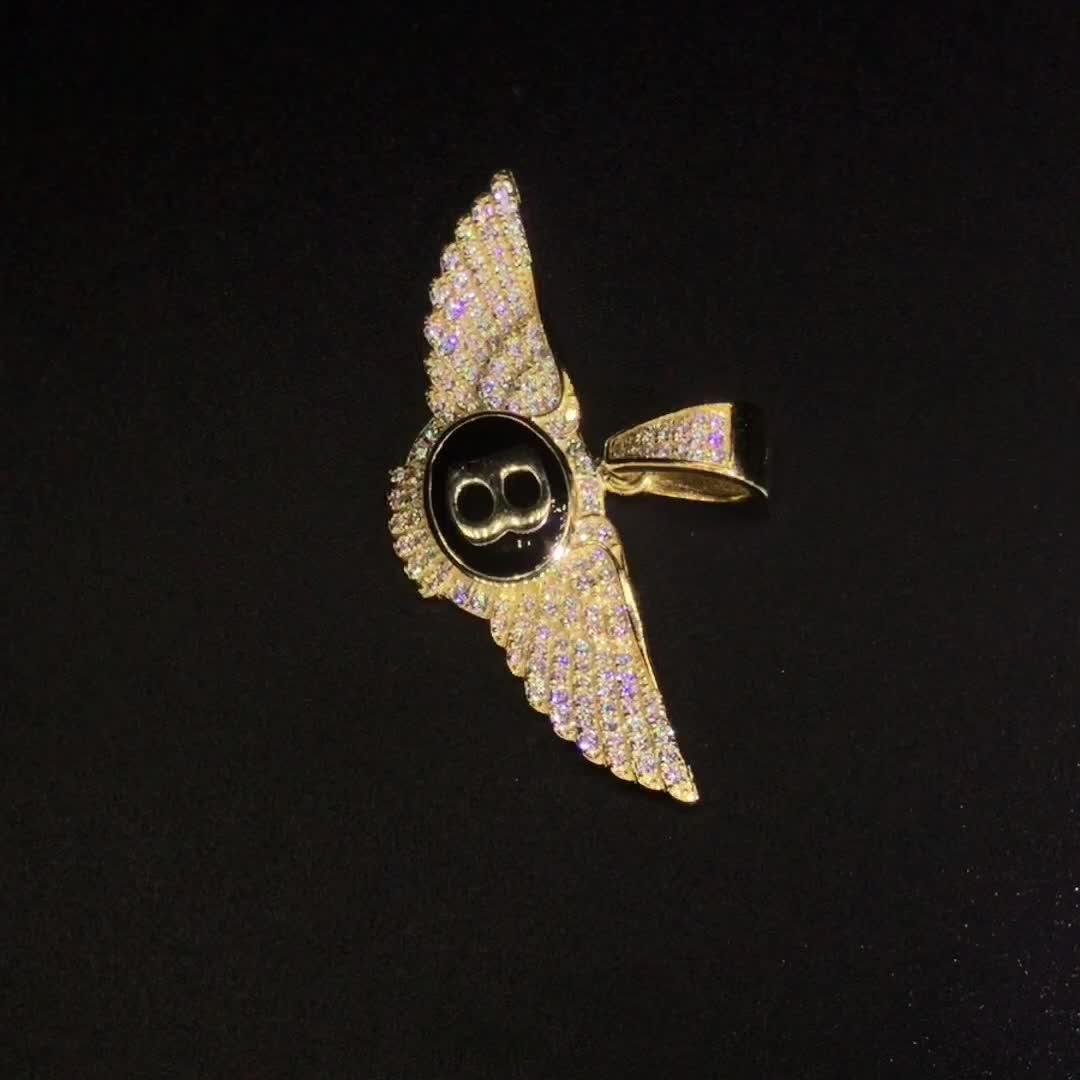 Angel Wings Sieraden Gouden Sieraden Zirkoon Hanger Sets In Dubai