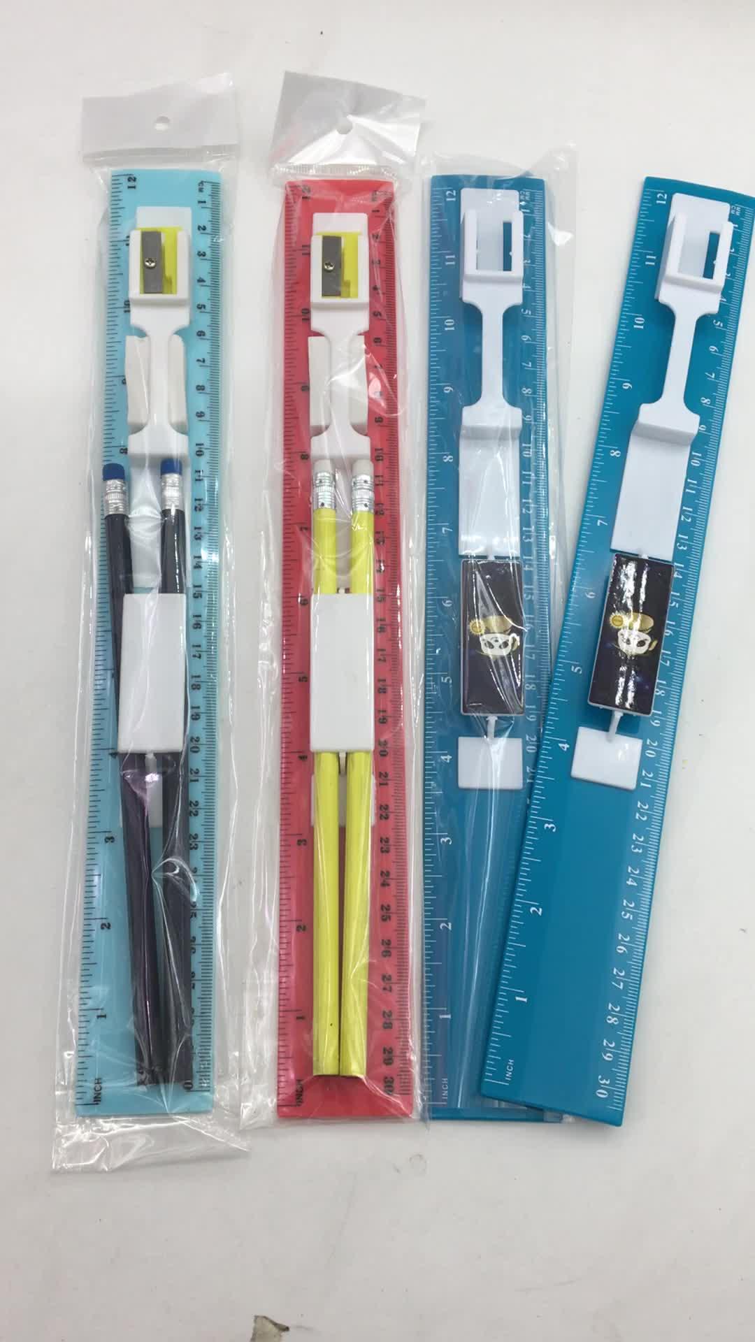 학교 사용 연필 통치자 편지지 세트