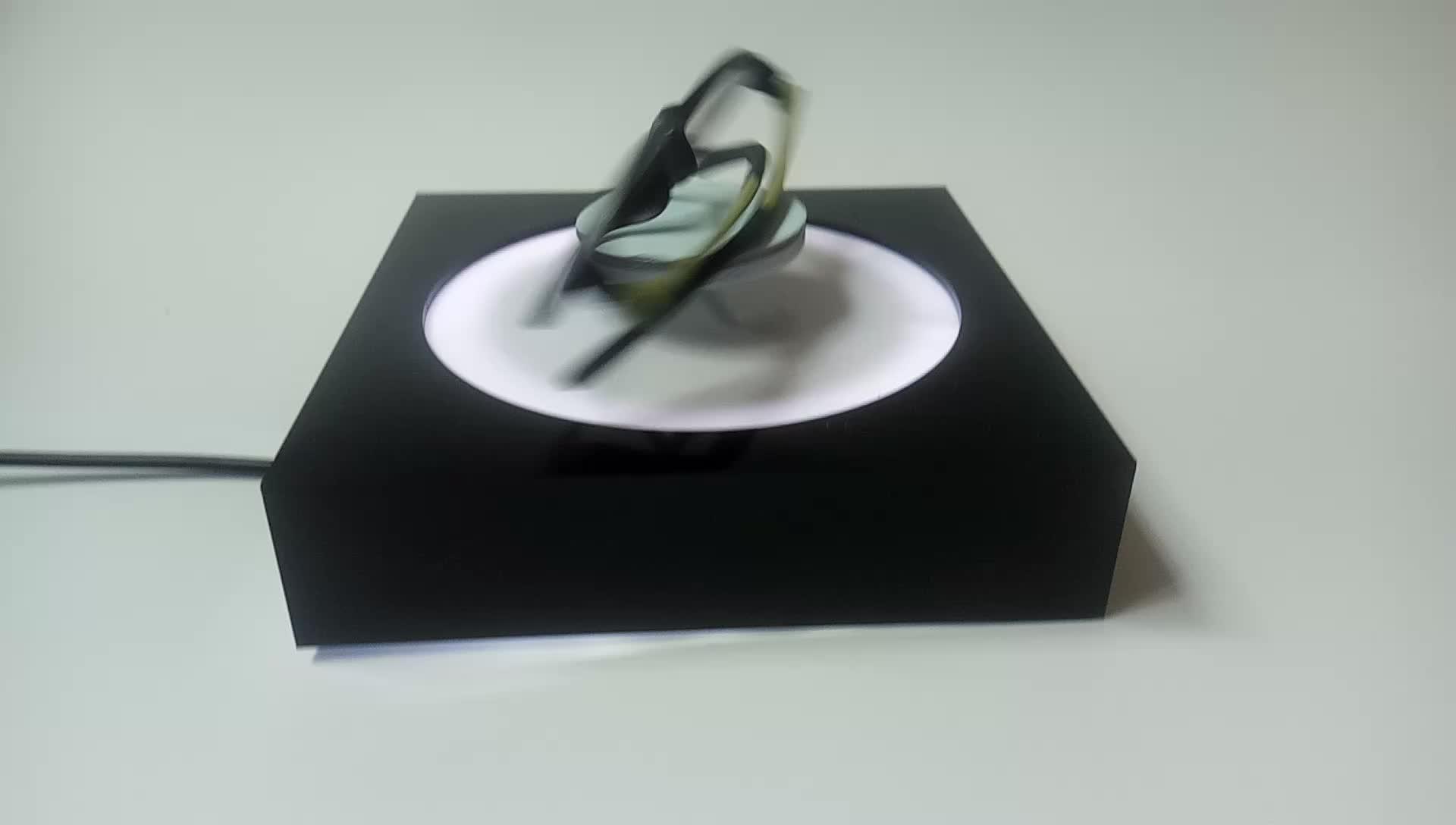 Acrylic magnetic floating levitation display for eyeglass