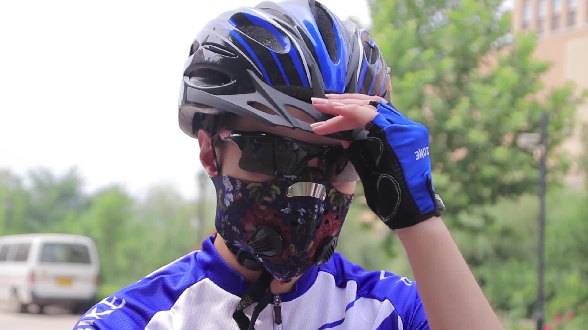 Fiets motorfiets luchtvervuiling antismog respirator gezicht mond masker N95