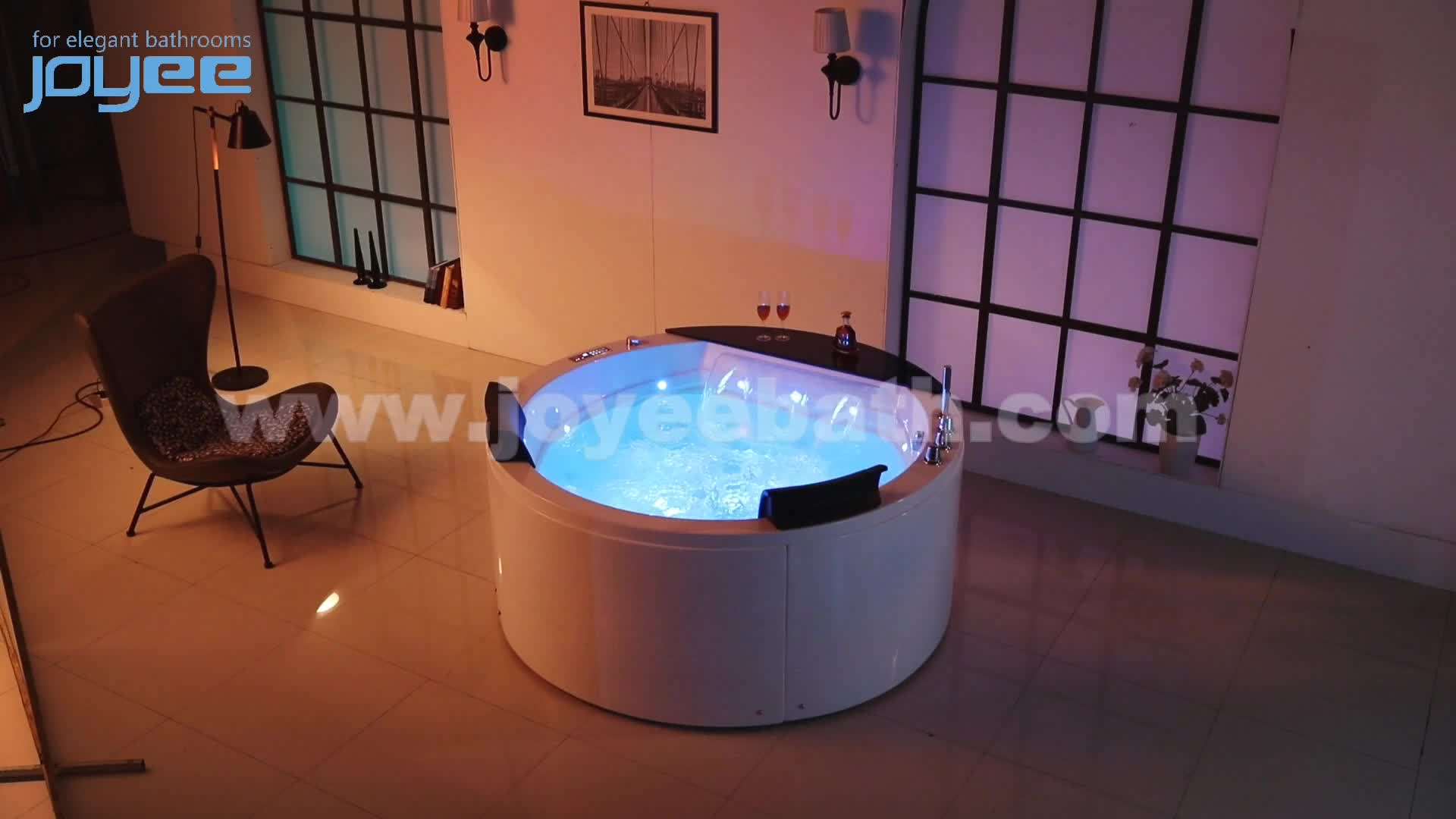 JOYEE Outdoor spa hot tub with LED lights with low price Jacuzzi function