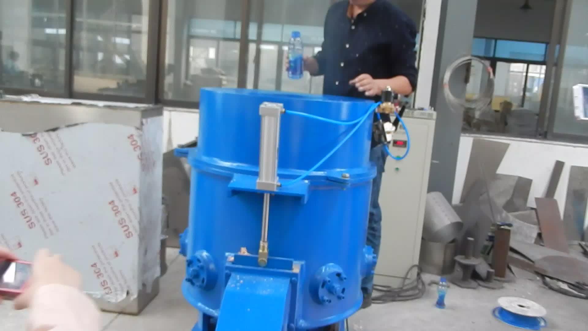 Recycling Automatic Plastic Agglomerator Densifier Granulating Machine