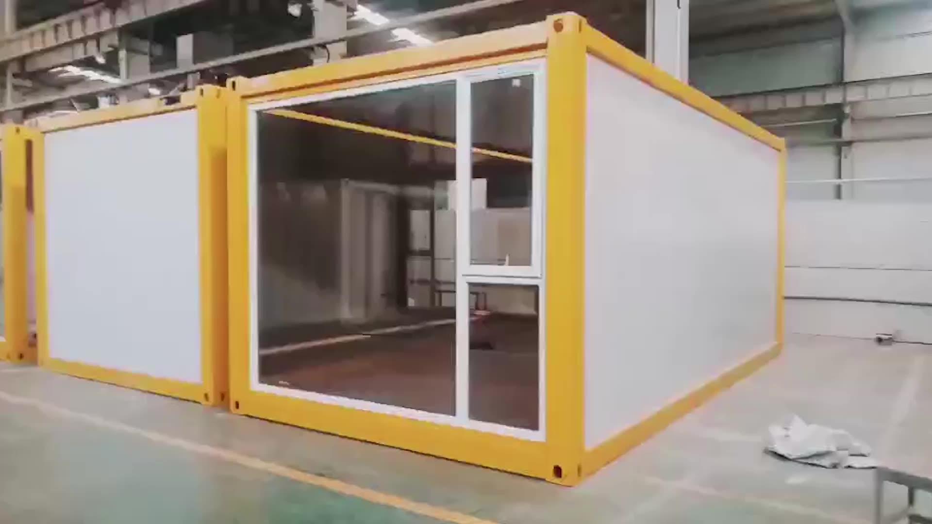 20ft 40 ayak prefabrik modüler kargo konteyneri evler çin'de yapılan