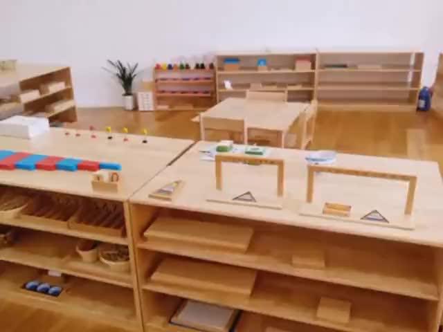 צעצוע חינוכי צעצועי עץ מונטסורי וייטנאם סגנון וקבוצת בלוק עץ עשר בסיס סוג
