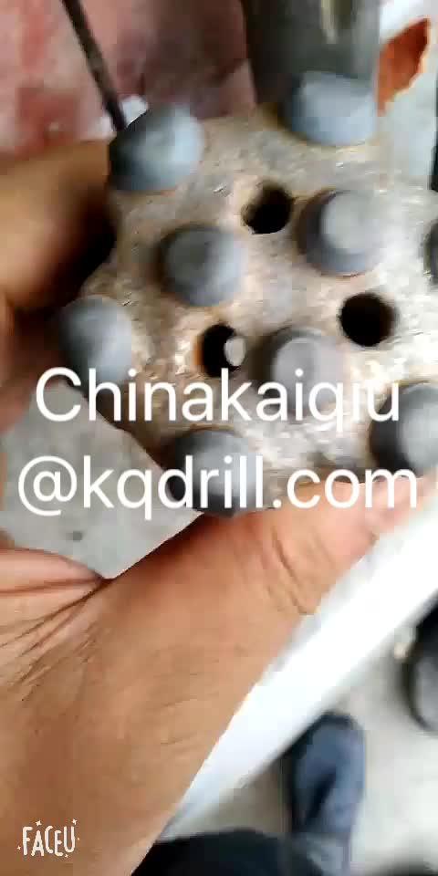 Chất Lượng cao 43mm R32 Chủ Đề Nút Bit Với 9 Nút cho trôi, đường hầm, khai thác đá và khai thác mỏ từ kaiqiu