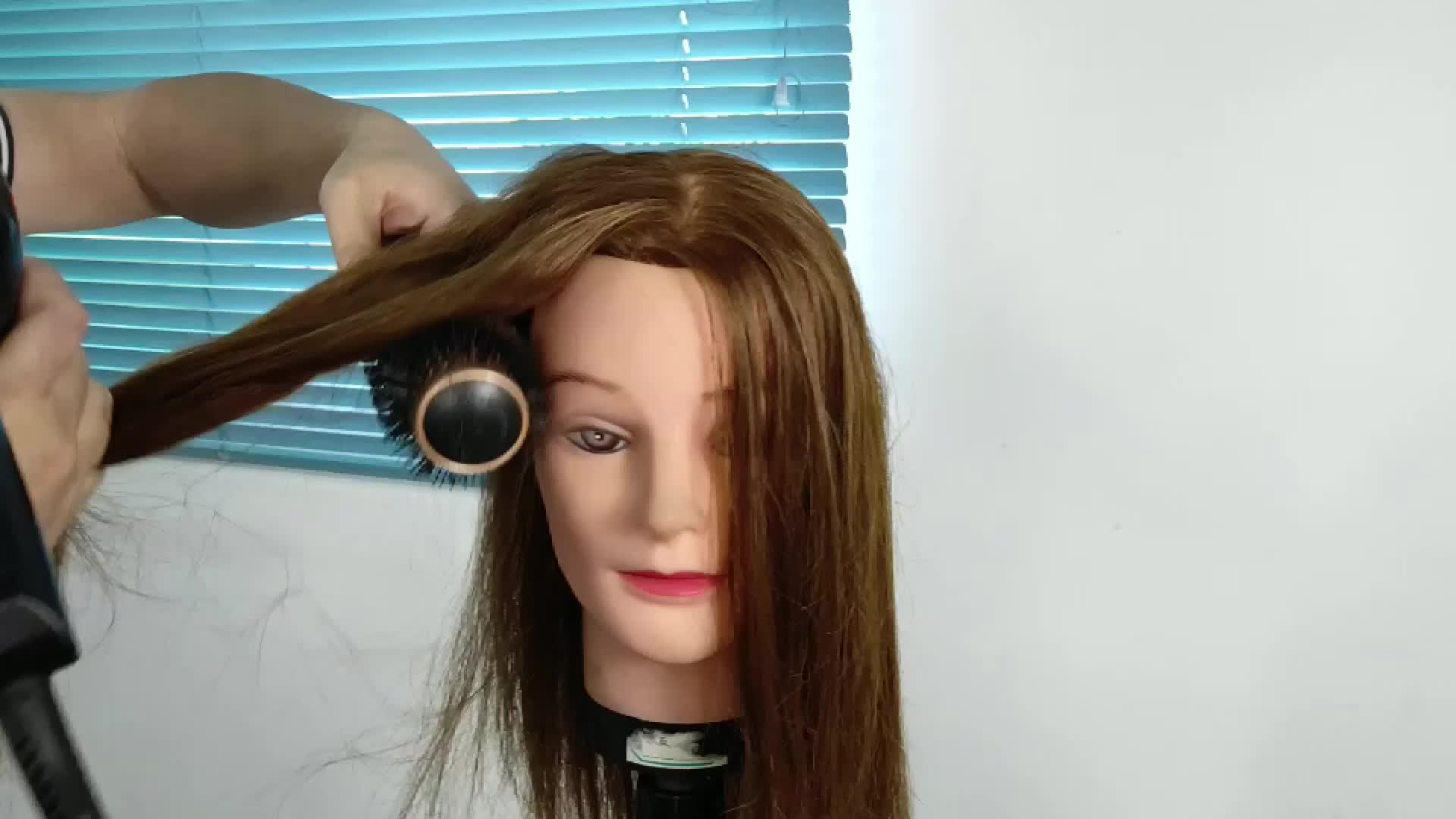 Private Label Professional Salon Tool Nano Ionic Round Hair Ceramic Barrel Blow Brush