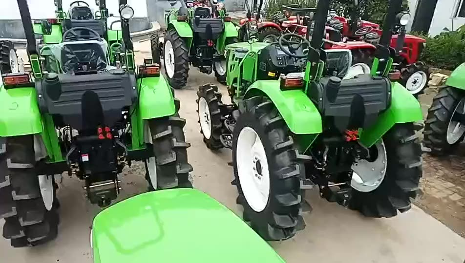 Cheap price farm 50hp 60hp  tractors small garden tools tractor with implements