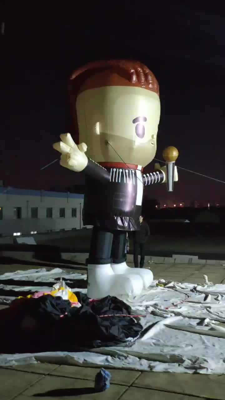 Giant inflatable model for advertising,inflatable singer model,giant inflatable cartoon men