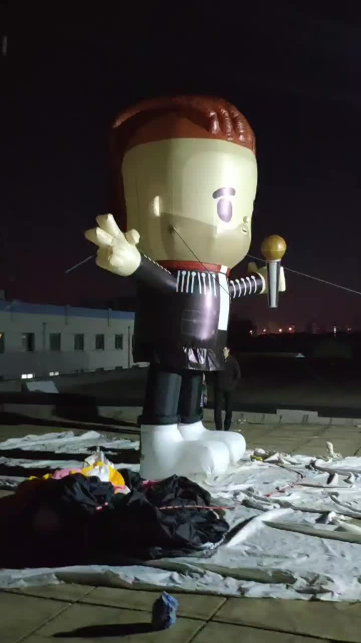 ที่กำหนดเองพองการ์ตูน Rocker Cool Inflatable การ์ตูนนักร้อง