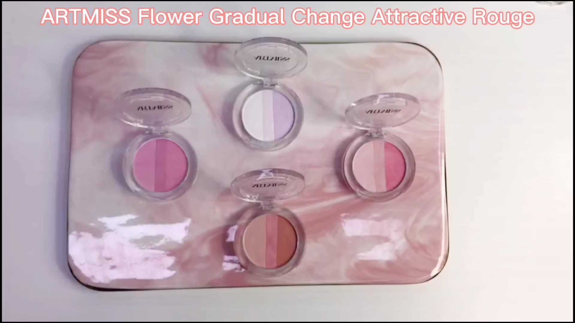 ARTMISS Hot selling Cheek Makeup Highlight Rouge Cosmetics 4 Color Blush Powder Blusher