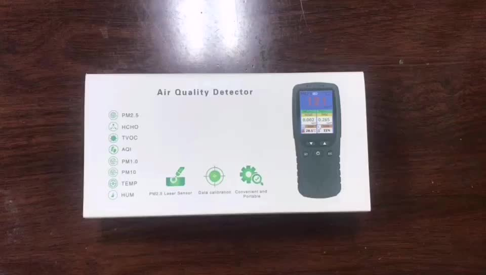PM2.5/HCHO/TVOC Temperature Humidity Monitor AQI Air Quality Analysis Tester Gas Detector Measuring Tool Smog Meter
