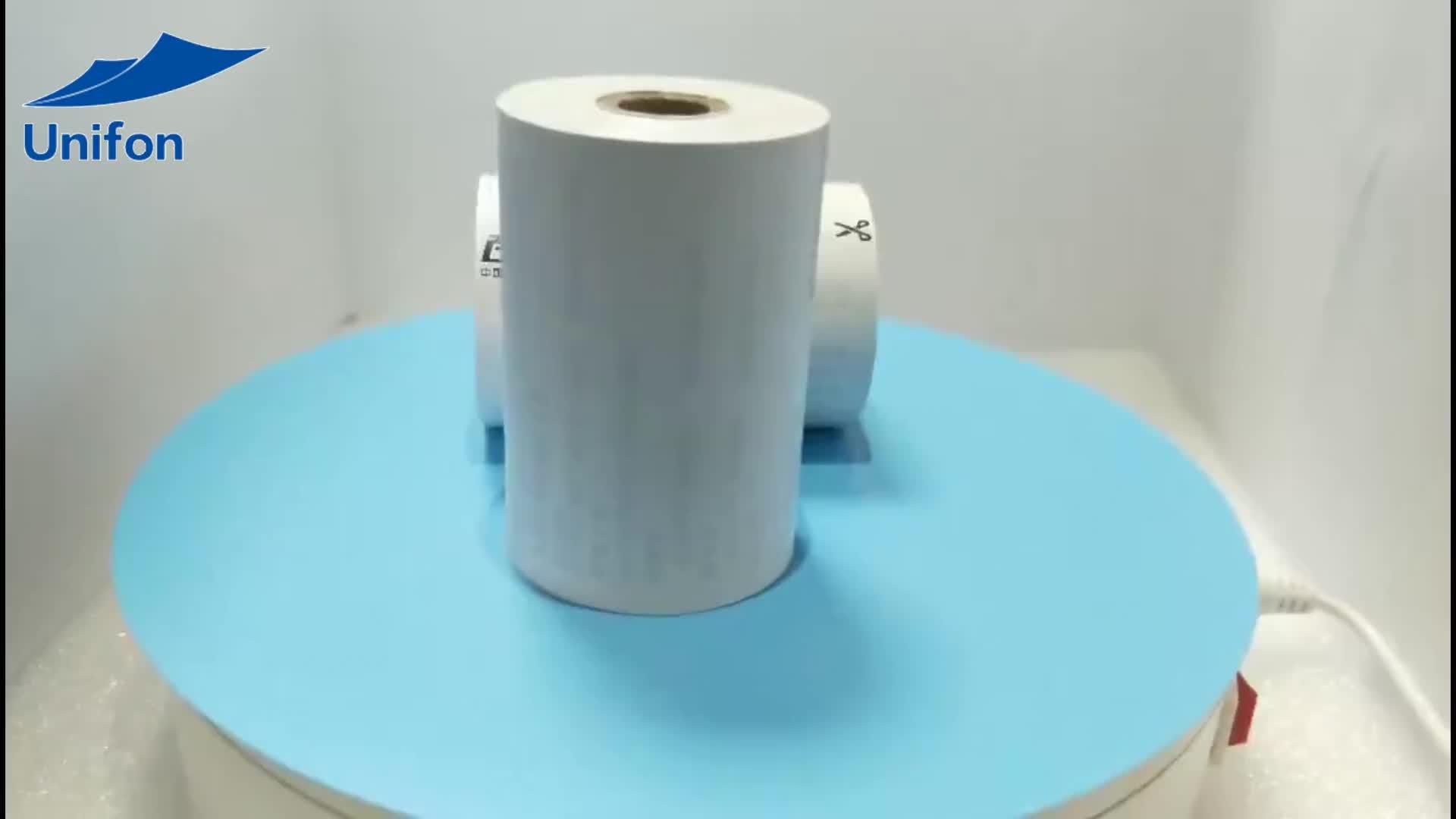 2017 custom logo rolling paper advertisement printed 80mm ATM roll