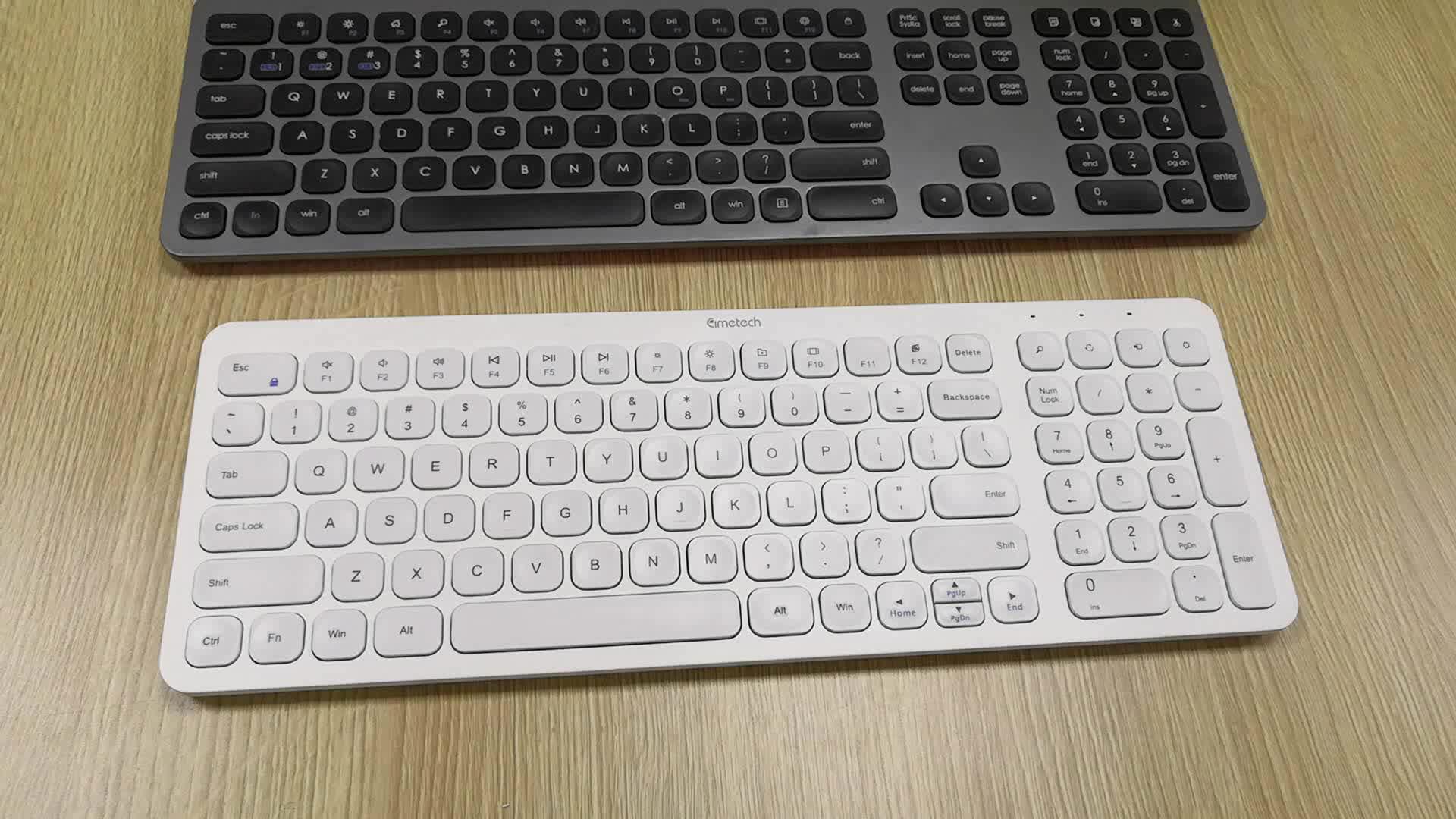 China BSCI fabrik großhandel Luxus OEM logo hohe qualität computer zubehör tastatur 95 schlüssel drahtlose tastatur und maus Combo
