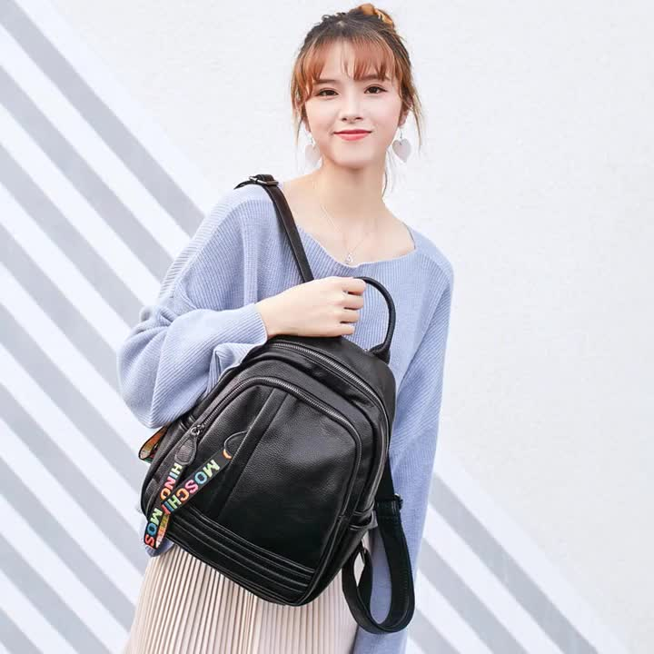 MIYIN New design korean fashion simple casual  backpack large capacity zipper multi-function student Lady Travel Backpack women