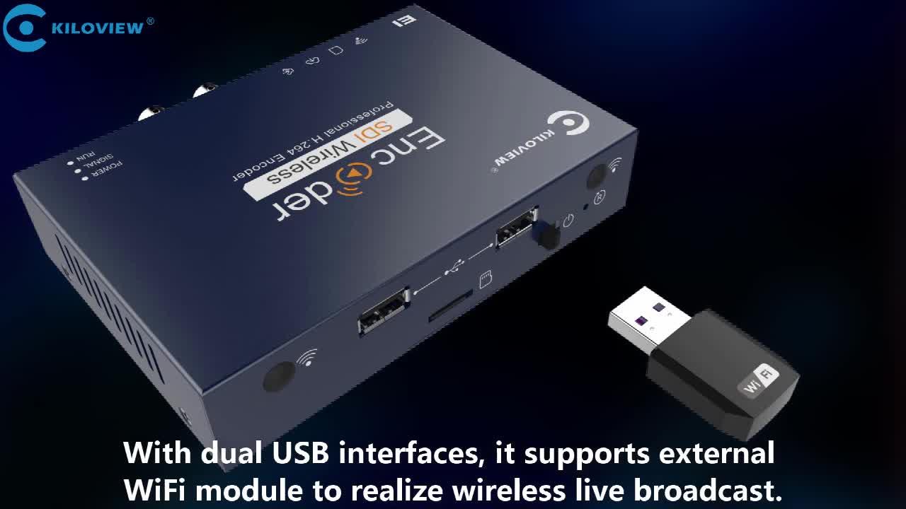 Kiloview Wired 1080P HD SDI IPTV to RTMP SRT RTSP Live Streaming H.264 Encoder Hardware